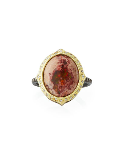 Old World Mexican Fire Opal Ring