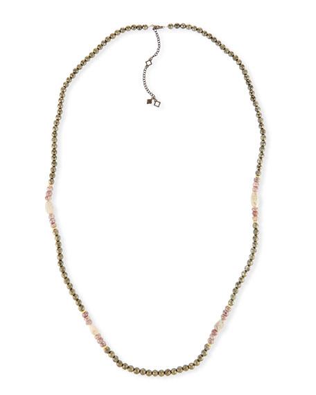 Armenta Old World Pyrite, Corundum & Opal Necklace