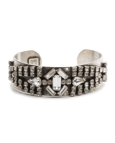 Dannijo Petunia Mixed Crystal Kick Cuff Bracelet