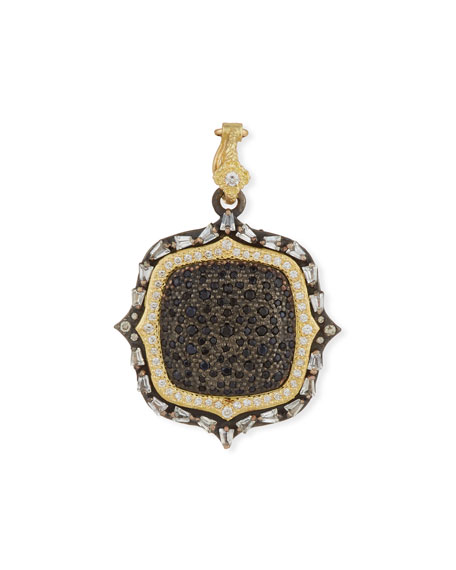 Old World Two-Tone Diamond & Black Sapphire Pendant Enhancer