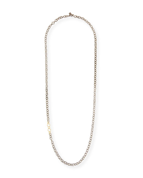 """Old World Thick Circle-Link Necklace, 32""""L"""
