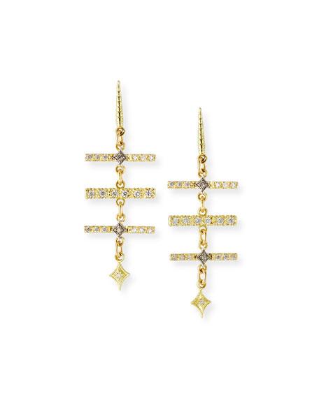 Armenta OLD WORLD DIAMOND TRIPLE-BAR EARRINGS