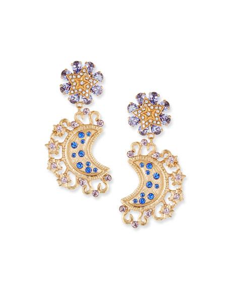 Dolce & Gabbana Lunar Crystal Drop Earrings