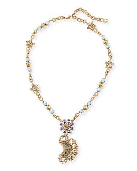 Lunar Crystal Pendant Necklace