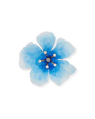 Thalia Crystal Flower Brooch