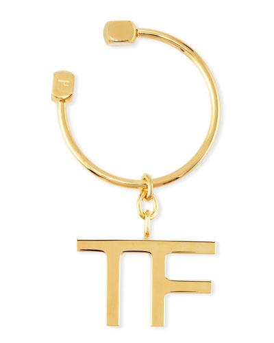 Metal TF Logo Keychain