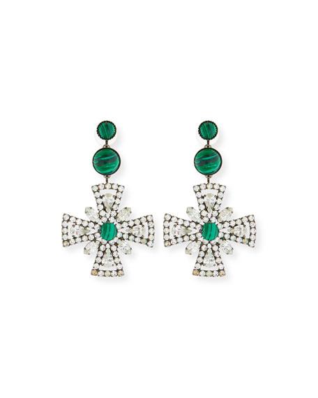Elizabeth Cole Poppy Drop Earrings