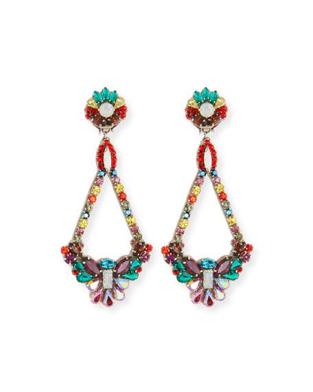 Ranjana Khan HANDMADE MULTICOLOR CRYSTAL CLIP-ON EARRINGS