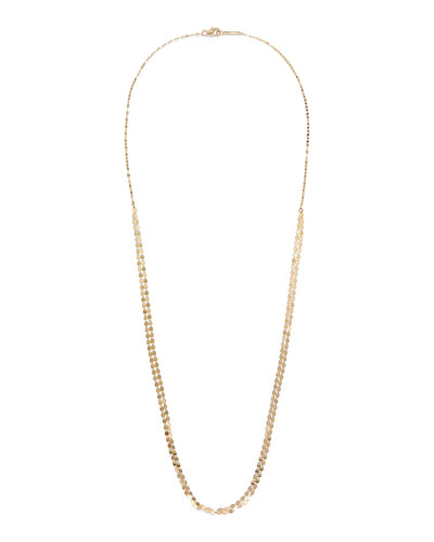 14k Gold Nude Petite Long Necklace, 24