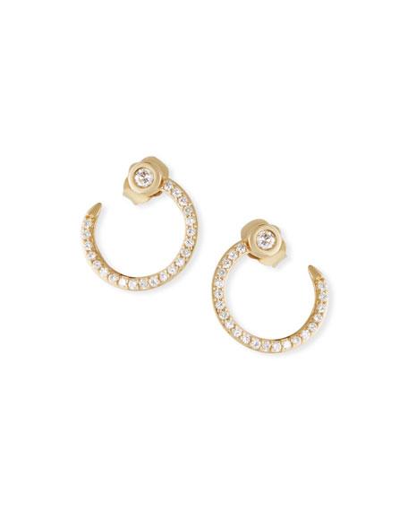Sydney Evan Accessories 14K GOLD DIAMOND NAIL HOOP EARRINGS