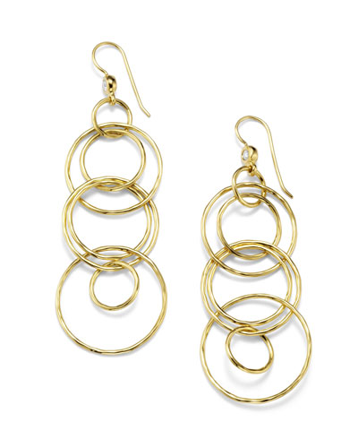 Classico 18k Gold Jet Set Earrings
