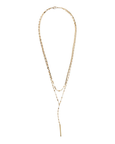 14k Gold Nude Blake Layered Lariat Necklace