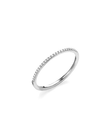 LANA 14K Gold Thin Flawless Diamond Stack Ring in Rose Gold