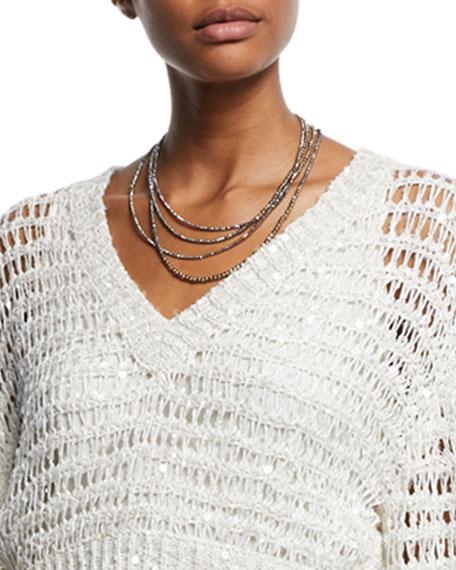 Golden Glass Wrap Bracelet Necklace