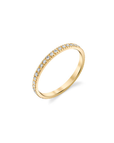 14k Gold Diamond Eternity Band, Size 6.5