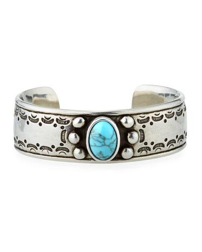 Textured Turquoise Cuff Bracelet