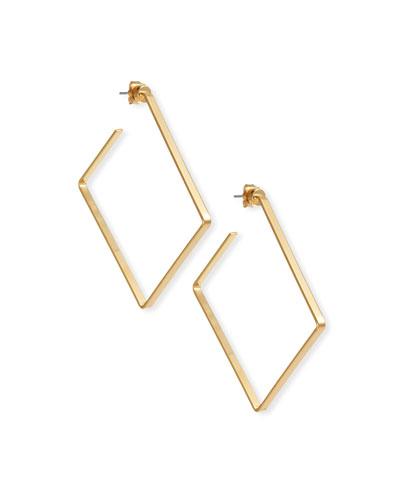 Salma Square Hoop Earrings
