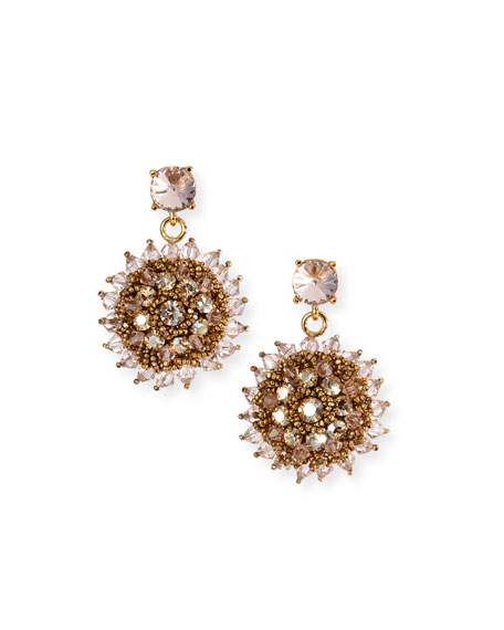 Oscar de la Renta Beaded Clip-On Earrings