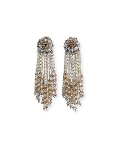 chain Cluster Beaded Earrings