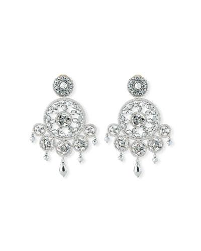 Dreamcatcher Crystal Clip-On Earrings