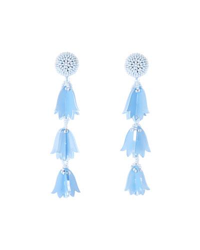 Triple Bellflower Clip-On Earrings