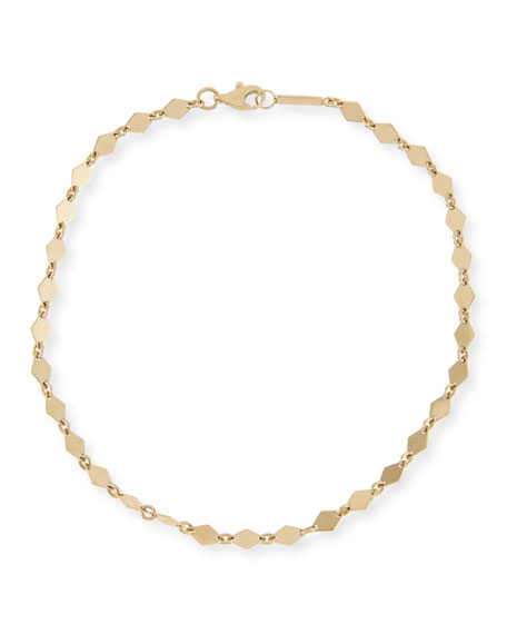 Lana 14K GOLD MINI KITE CHAIN ANKLET