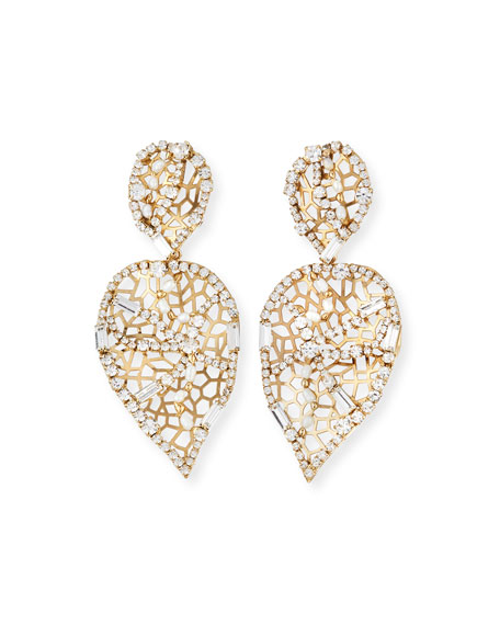 Rosantica BRIVIDI PERFORATED CRYSTAL DROP EARRINGS