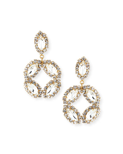 Neve Marquise & Round Crystal Earrings