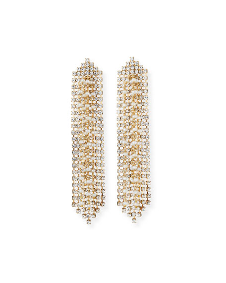 Rosantica GELO PEARL & CRYSTAL DANGLE EARRINGS
