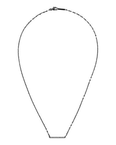 14k Black Gold Mini Diamond Bar Necklace