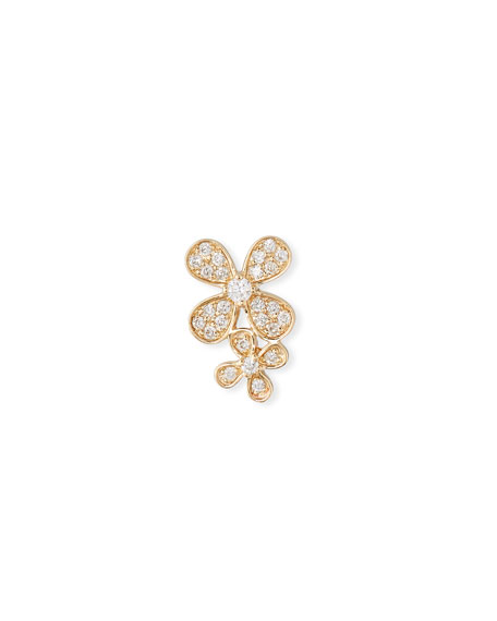 Sydney Evan 14k Gold Diamond Double Paisley Petal