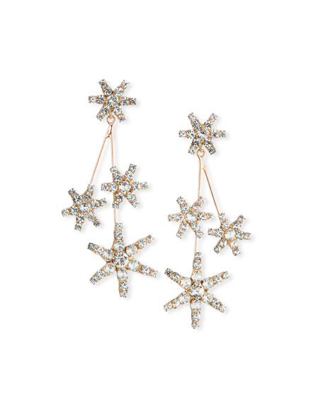 JENNIFER BEHR Saros Crystal Starburst Earrings in Rose Gold