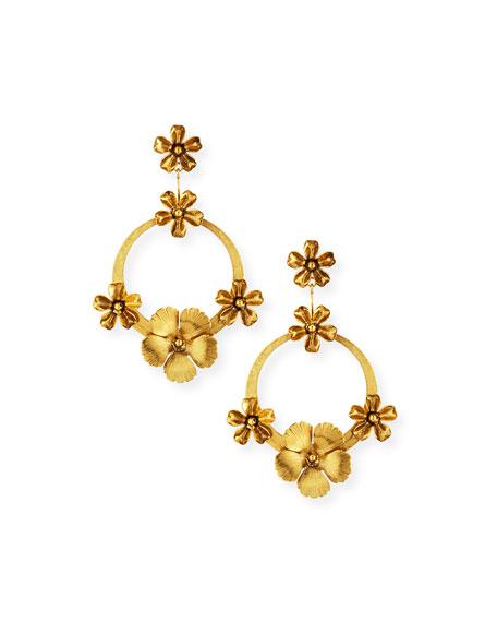 JENNIFER BEHR Freya Hoop Drop Earrings in Gold