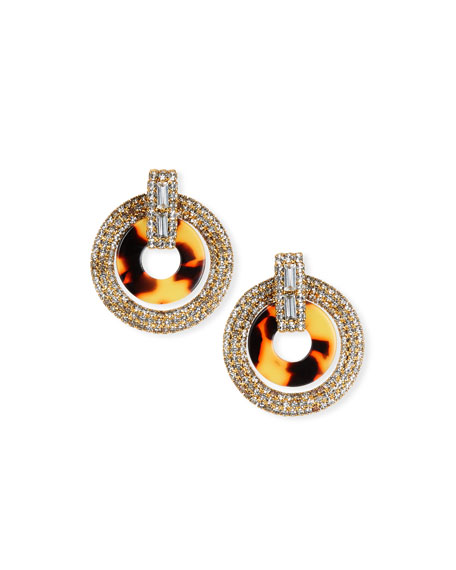 Elizabeth Cole Linnea Crystal & Acetate Hoop Drop