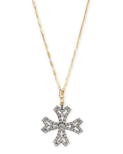 Jacalyn Crystal Cross Pendant Necklace