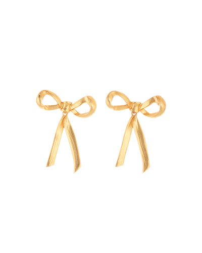 Runway Metal Bow Earrings