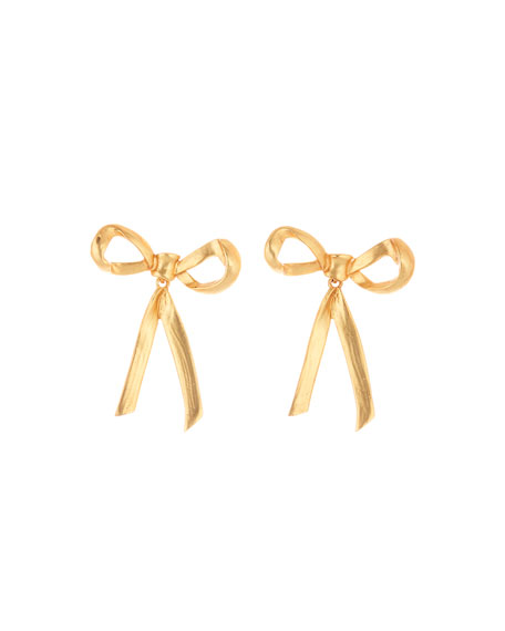 Runway Metal Bow Earrings
