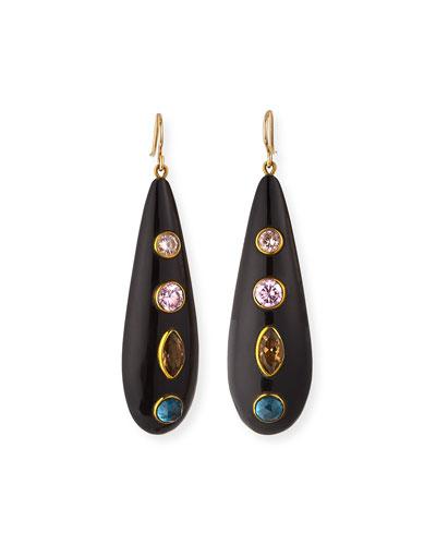 Upendo Dark Horn Earrings