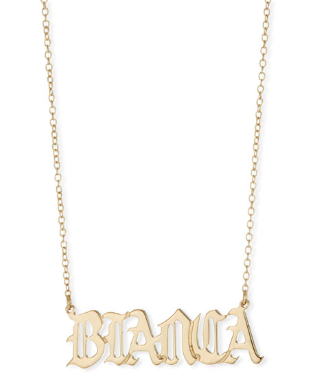 Netta Personalized Gothic Nameplate Necklace