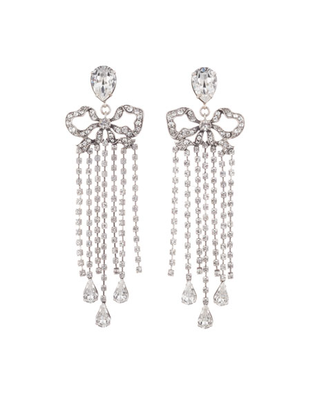 Dannijo Chantel Crystal Dangle Earrings