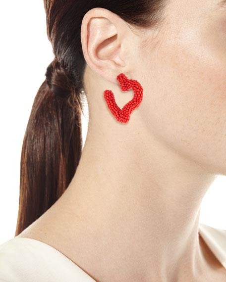 Mini Heart Hoop Earrings