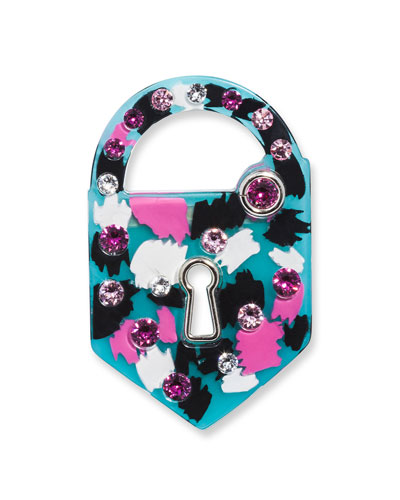 Resin Padlock Brooch