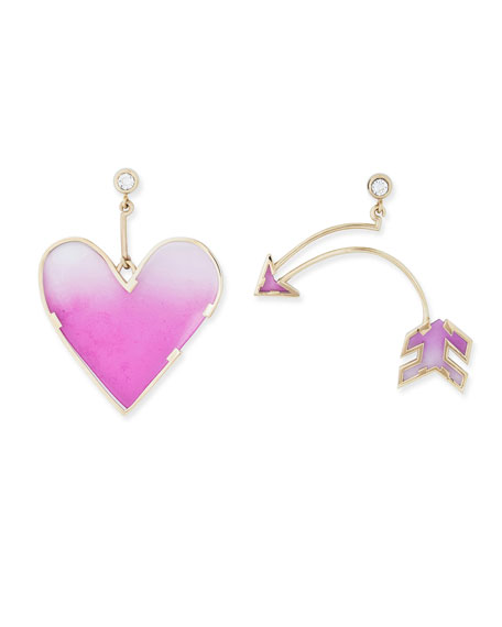 Heart & Arrow Earrings Set