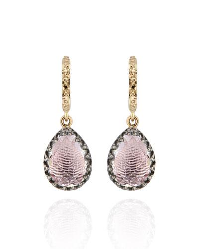 Lady Jane Small Pear Drop Huggie Earrings  Ballet