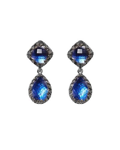 Small Jane Quartz Drop Earrings  Cobalt