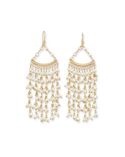 Pearl Fringe Drop Earrings
