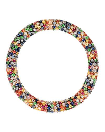 Twister Luxe 18k Bracelet  Rainbow