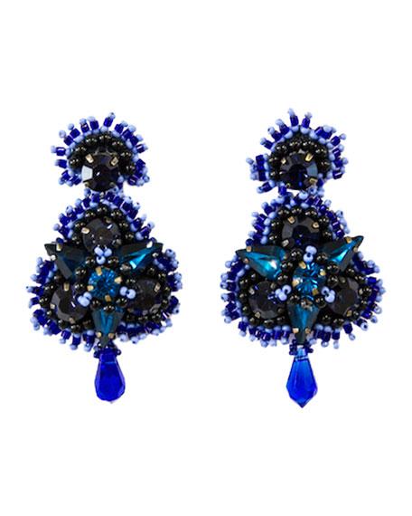 Mignonne Gavigan Anastasia Crystal Earrings, Blue