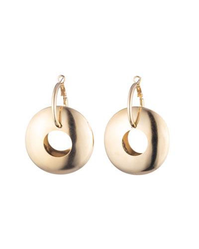 Lunar Wide Hoop-Drop Earrings