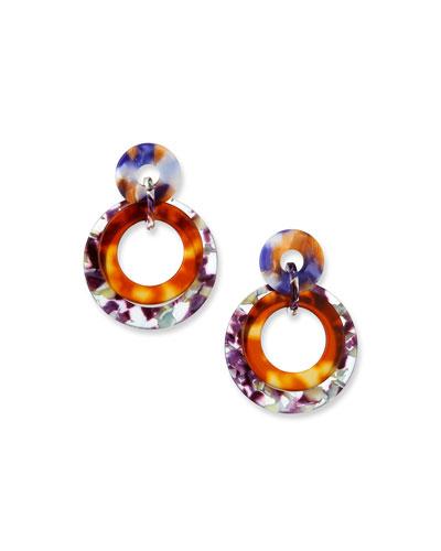 Banded Acetate Hoop Earrings
